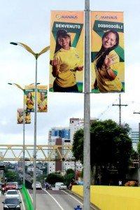 Prefeitura conclui decoração da cidade para a Copa do Mundo