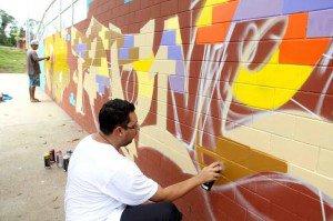 Graffiti garante visual mais moderno ao Skate Park Ponta Negra