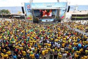 Fan Fest em Manaus contagia mais de 40 mil pessoas