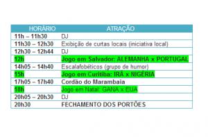 Abertura da FIFA Fan Fest™ Manaus terá horário diferenciado essa segunda-feira
