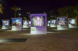 Exposição sobre povos indígenas na Ponta Negra